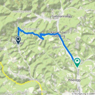 Graden 7a, Graden nach Hemmerberg 54–58, Kainach