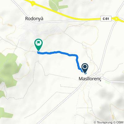 Ruta a Calle de Esglèsia, Rodonyà