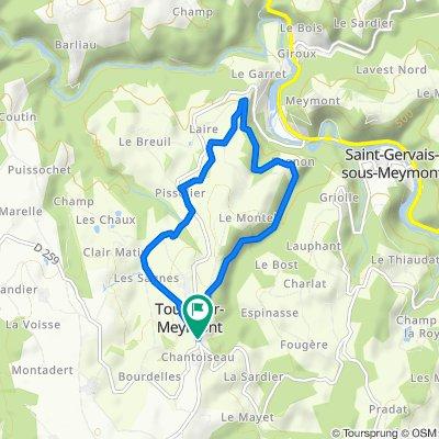 De Le Bourg, Tours-sur-Meymont à Le Bourg, Tours-sur-Meymont