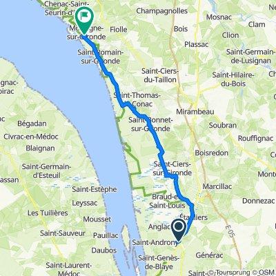De 53 Route de Royan, Eyrans à Cours Bellevue, Mortagne-sur-Gironde