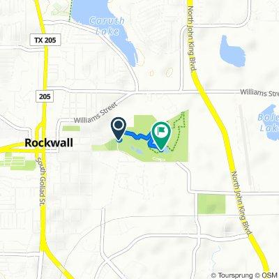 815 E Washington St, Rockwall to 915 E Washington St, Rockwall