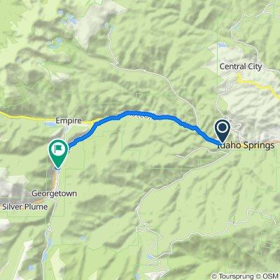 128 Colorado Blvd, Idaho Springs to 22nd St, Georgetown