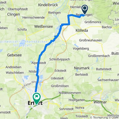 Am Windberg 1, Beichlingen nach Willy-Brandt-Platz 12, Erfurt