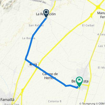 Ruta desde Ruta Provincial 301, Lules