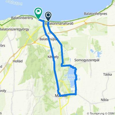 Marcali - Balatonmáriafürdő,  36 km körtúra