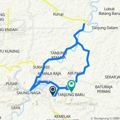 Jalan Garuda, Kecamatan Baturaja Timur to Jalan Let. Muda M. Sidi Junet, Kecamatan Baturaja Timur