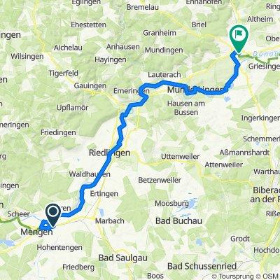 D4 Mengen to Ehingen (Germany)