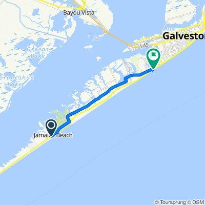 16628 Termini San Luis Pass Rd, Jamaica Beach to 7310 Seawall Blvd, Galveston