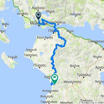 Eparchiaki Odos Mesologgiou - Kerasovou, Etoloakarnania to Unnamed Road, Messinia