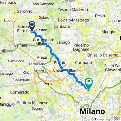 Da Via Damiano Chiesa 170–198, Caronno Pertusella a Via Carlo Imbonati 20, Milano