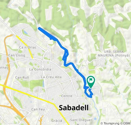 De Calle del Ter, 75, Sabadell a Calle del Llobregat, 75, Sabadell