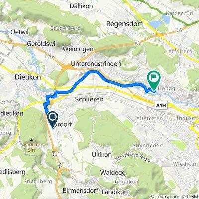 Im Chlösterli 21, Urdorf nach Winzerhalde 52, Zürich