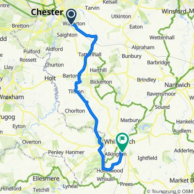 Route from 15 Mount Way, Chester