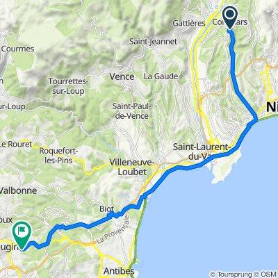 De 12 Corniche Antoine Léon Laugier, Colomars à 713 Chemin de l'Étang, Mougins