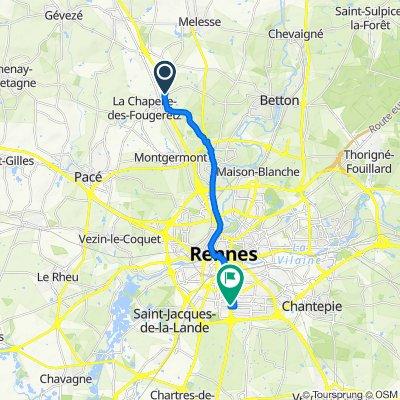 De 65 La Besneraye, Melesse à 101 Avenue Henri Fréville, Rennes