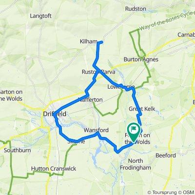Kilham Lowthorpe Naff Driff Foston 20m loop