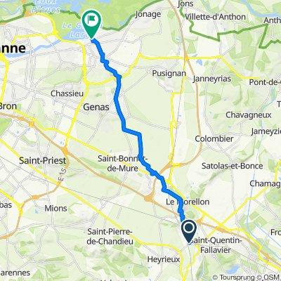 De Route de Grenay, Saint-Quentin-Fallavier à 5 Rue du Grand Large, Meyzieu