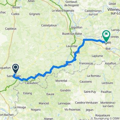 De Route de Marmande, Saint-Justin à Place du Docteur Pierre Esquirol, Agen