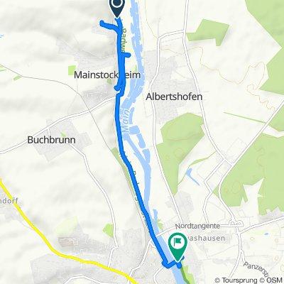 St2270, Mainstockheim nach Alte Mainbrücke 2A–2B, Kitzingen