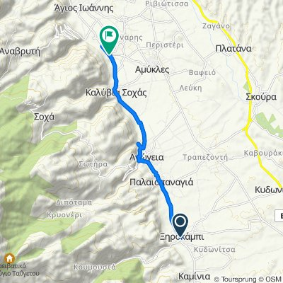 Route from Dimitriou Sakellariadi, Xirokampi