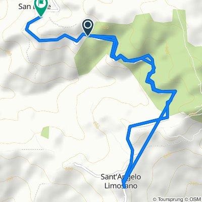 Da SP73 50, Sant'Angelo Limosano a Via Giuseppe Garibaldi 39, San Biase