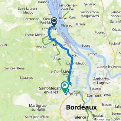 De Route du Port, Lamarque à Rue Gabriel Moussa 19, Eysines
