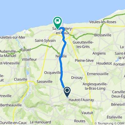 De Route de la Mairie, Saint-Vaast-Dieppedalle à Avenue de la 51ème Highland Division, Saint-Valery-en-Caux