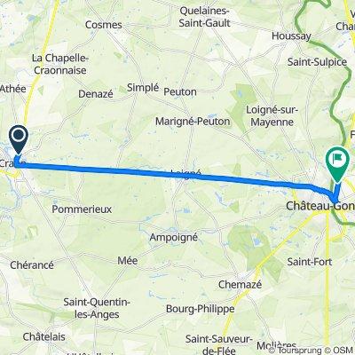 De 26 Avenue de Champagne, Craon à 13 Route de Laval, Azé