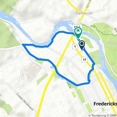 Germania St, Fredericksburg to 2201 Caroline St, Fredericksburg