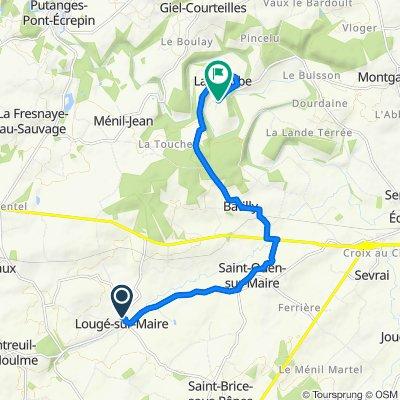 De 6 Rue des Viollettes, Lougé-sur-Maire à 4 Route des Grands Pres, La Courbe