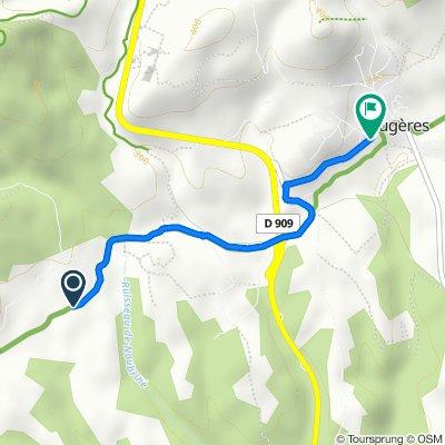 De D154, Caussiniojouls à 841 Route de Pézenas, Faugères