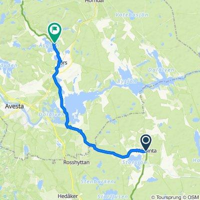 Åsvägen 20a, Möklinta to Kolarbo 96, Fors