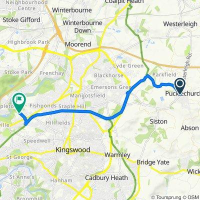 6 Westerleigh Road, Bristol to 61 Everest Road, Bristol