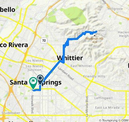 10006 Santa Fe Springs Rd, Santa Fe Springs to 12246 Telegraph Rd, Santa Fe Springs