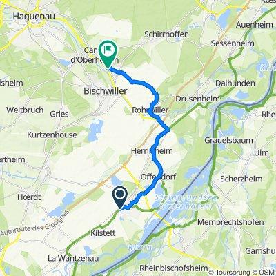 De 63 Route Nationale, Gambsheim à 5 Place de l'Église, Oberhoffen-sur-Moder