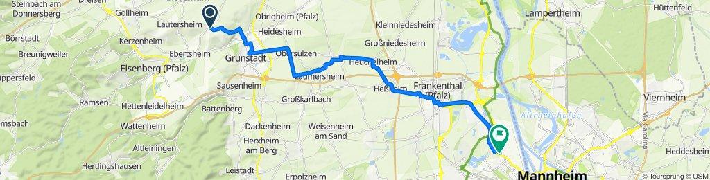 Vor der Pforte 13, Quirnheim nach BASF Tor 5, Ludwigshafen am Rhein