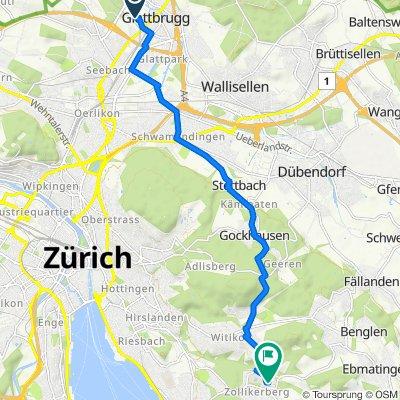 Cherstrasse, Glattbrugg nach In der Deisten 8, Zollikerberg