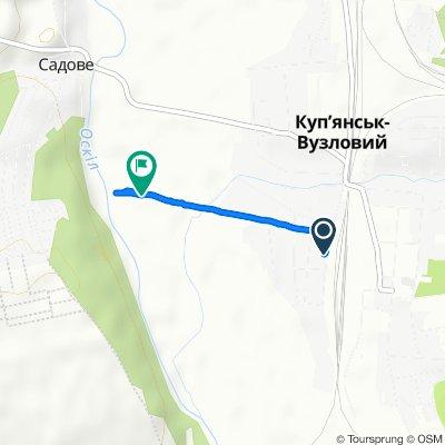 От Купянск-Узловой, Куп'янськ-Вузловий до Unnamed Road, Куп'янськ-Вузловий
