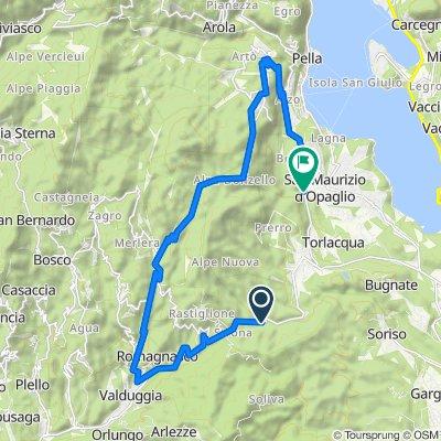 SP45, Valduggia nach Strada Provinciale Pogno-Pella, San Maurizio d'Opaglio