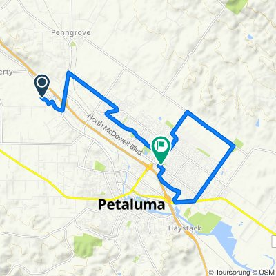 20 Rainsville Rd, Petaluma to 1418 McGregor Ave, Petaluma