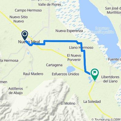 De Calle Josefa Ortíz de Domínguez 1604, Nuevo Ideal a Carretera Guadalupe Aguilera-Tepehuanes, Guatimapé