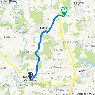 Passage de la Fontaine 20, Bourg-des-Comptes nach La Haye Guin 10, Orgères
