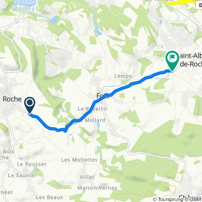 De 651 Route de Four, Roche à D124, Saint-Alban-de-Roche