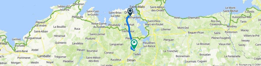 De Rue du Commerce, La Richardais à 45 Rue de la Fontellerie, Saint-Samson-sur-Rance