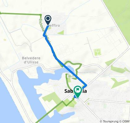 Da Via Eolo 53, Sabaudia a Via Cesare Battisti 6, Sabaudia