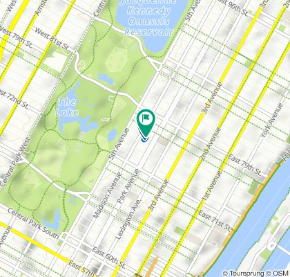 45 E 75th St, New York to 50 E 76th St, New York