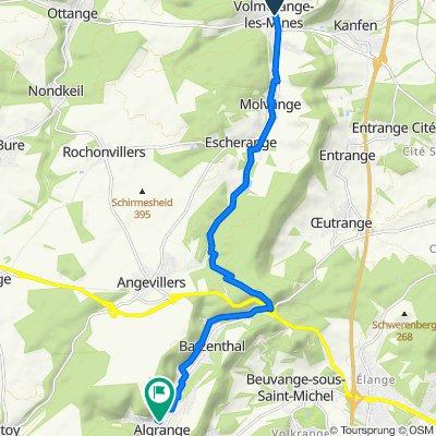 De D15, Volmerange-les-Mines a 25–31A Rue Jean Burger, Algrange