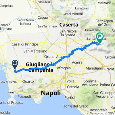 Da Via Carrafiello 8, Giugliano in Campania a Via Elevata 2, San Felice a Cancello