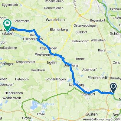Brumbyer Straße 5, Nienburg (Saale) nach Halberstädter Straße 23, Oschersleben (Bode)