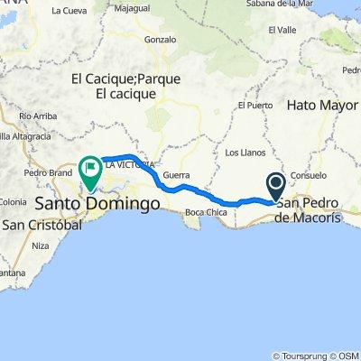 De Carretera Mella a Calle Claudio Arbelo, Santo Domingo